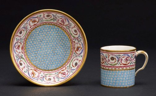 An image of Cup and saucer (gobelet litron) by Sèvres
