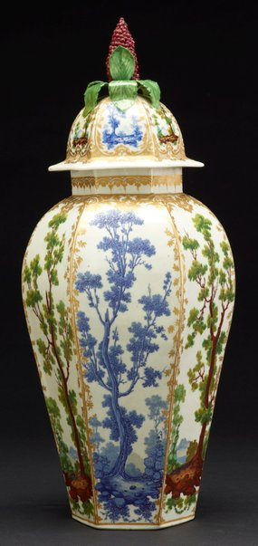 An image of Vase and cover by Bristol porcelain factory