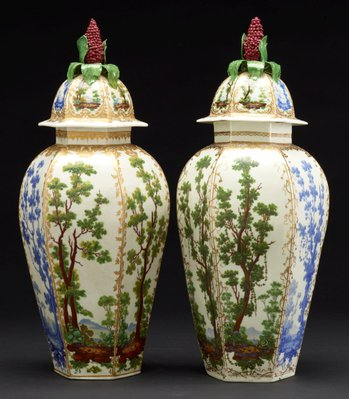 Alternate image of Vase and cover by Bristol porcelain factory