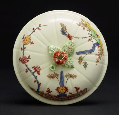 Alternate image of Covered bowl and stand by Saint-Cloud porcelain factory