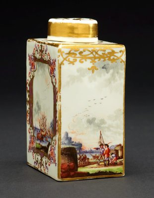 Alternate image of Tea canister and cover by Meissen