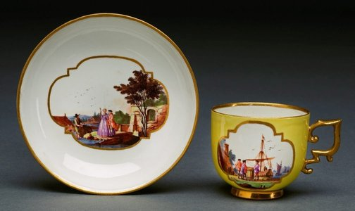 An image of Cup and saucer by Meissen