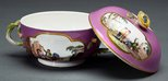Alternate image of Two handled soup bowl and cover by Meissen