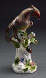 Alternate image of Bohemian waxwing, model by Meissen