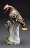Alternate image of Bohemian waxwing, model by Meissen