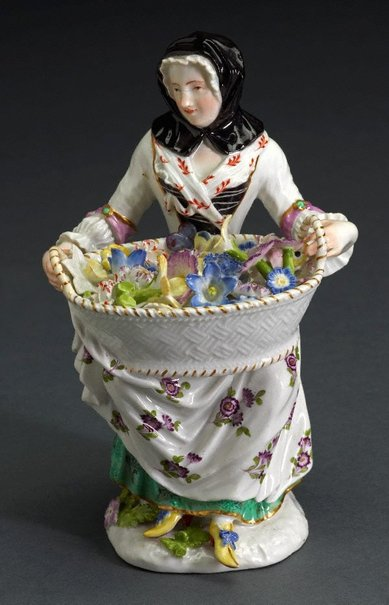 An image of Female gardener, model by Meissen
