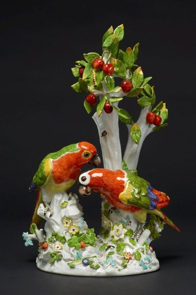 An image of Parrots, model by Meissen