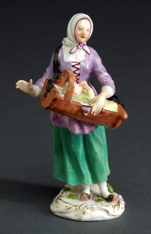 An image of Savoyard woman with cradle, model