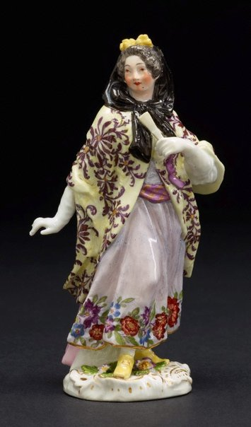 An image of A London courtesan, model by Meissen