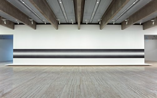 An image of Wall Drawing #1274: Scribble Column (Horizontal) by Sol LeWitt