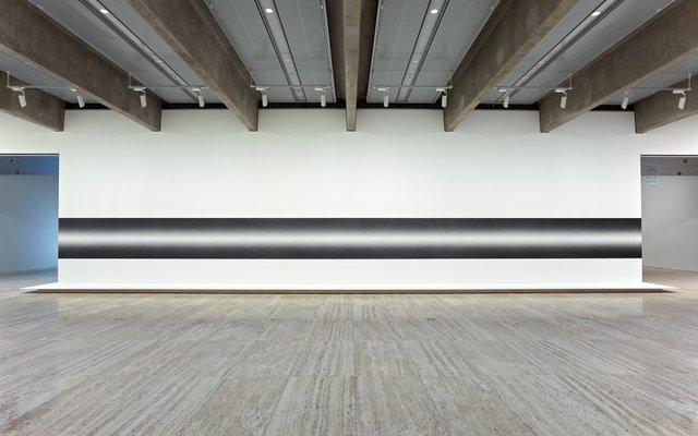 An image of Wall Drawing #1274: Scribble Column (Horizontal)