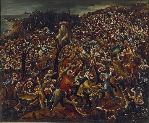 An image of The mockers by Arthur Boyd
