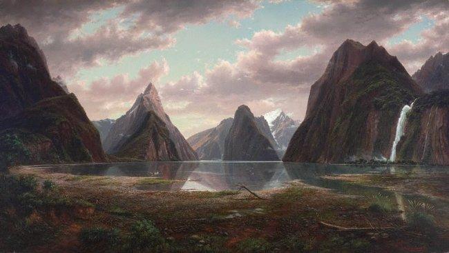 AGNSW collection Eugene von Guérard Milford Sound, New Zealand 1877-1879