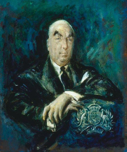 An image of Sir Robert Menzies by William Dobell