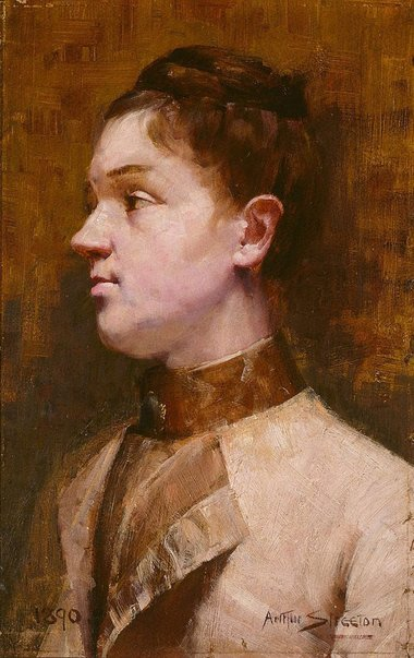 An image of Mrs W.H. Read by Arthur Streeton