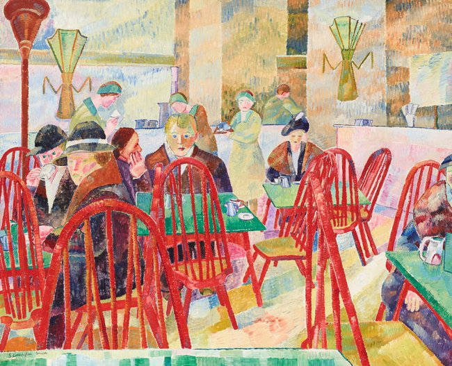 AGNSW collection Grace Cossington Smith The Lacquer Room (1936) OA10.1967