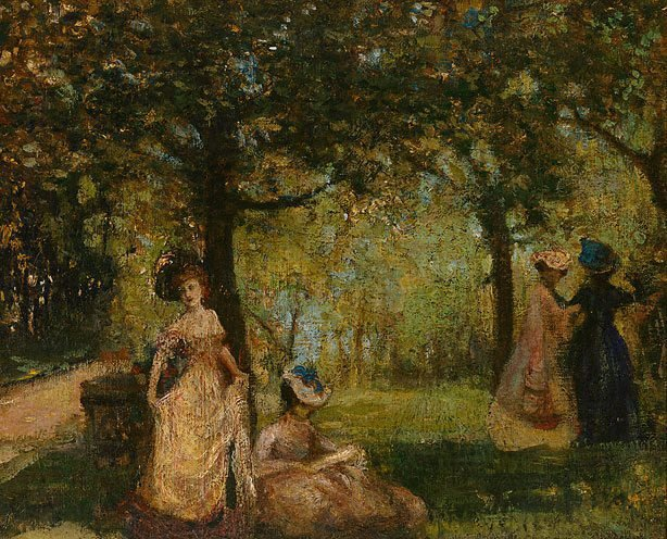 An image of Ladies in a garden