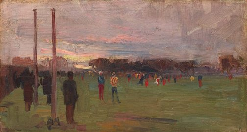 An image of The national game by Arthur Streeton