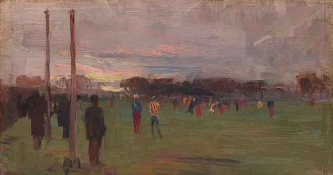 AGNSW collection Arthur Streeton The national game 1889