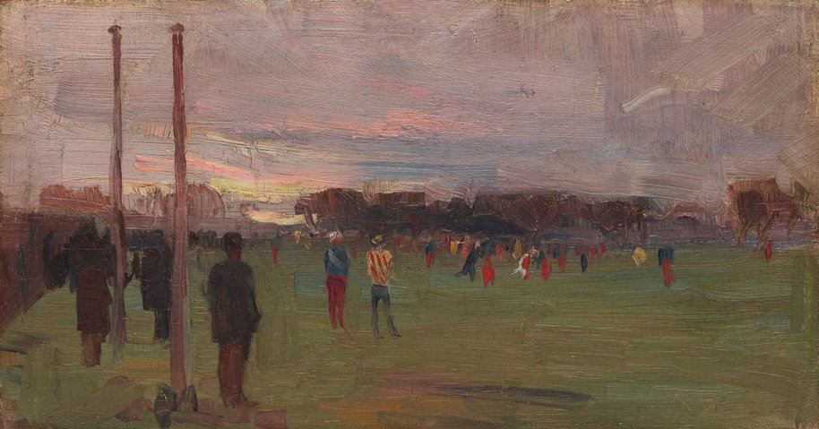 AGNSW collection Arthur Streeton The national game (1889) OA11.1963