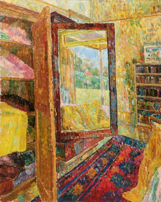 AGNSW collection Grace Cossington Smith Interior with wardrobe mirror (1955) OA11.1967