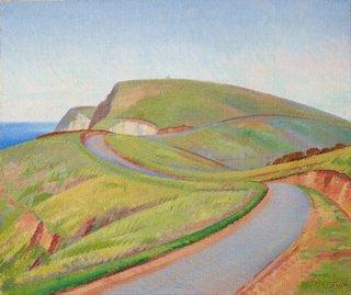 Cliffs at Newport, (circa 1932) by Rah Fizelle