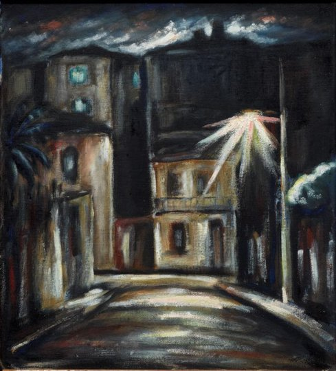 AGNSW collection Danila Vassilieff Nocturne no. 3, Commonwealth Lane 1936