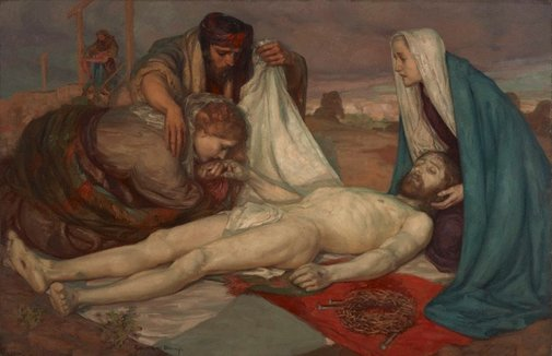 An image of The descent from the cross by Rupert Bunny