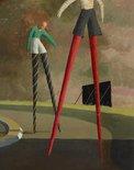 Alternate image of The stilt race by Jeffrey Smart