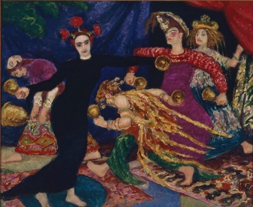An image of Bell dance by Rupert Bunny