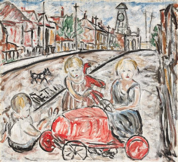 AGNSW collection Danila Vassilieff Fitzroy street scene 1937