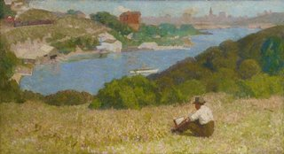 Down the hills to Berry's Bay, (1916) by Roland Wakelin