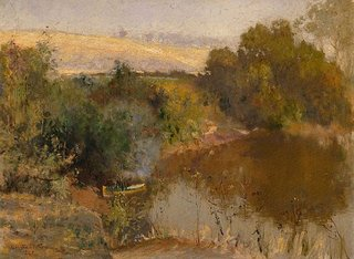 The Yarra below Eaglemont, (1895) by Walter Withers