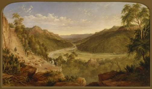An image of Burragorang Valley near Picton by JH Carse