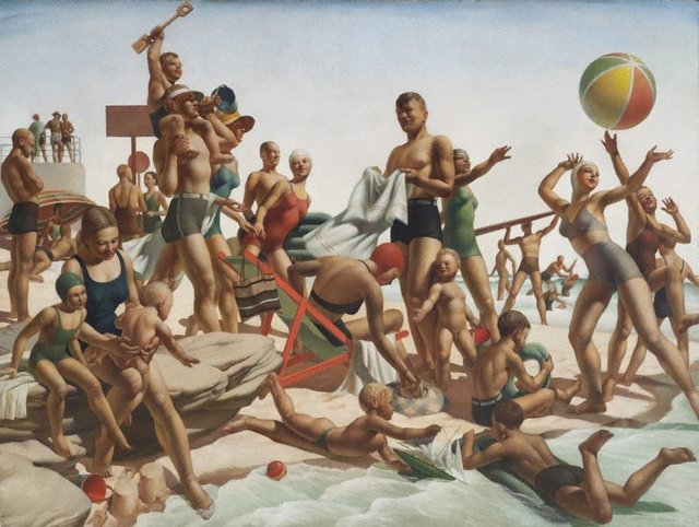 Australian beach pattern, (1940) by Charles Meere