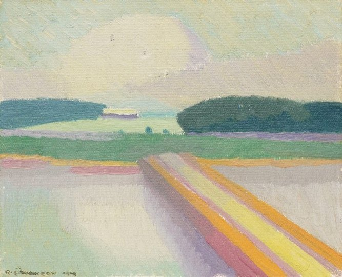 AGNSW collection Roland Wakelin Causeway, Tuggerah (1919) OA21.1967
