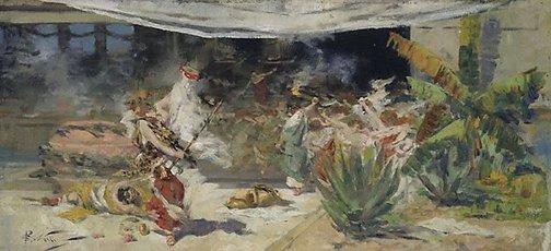 An image of A Bacchanalian orgy by Girolamo Nerli