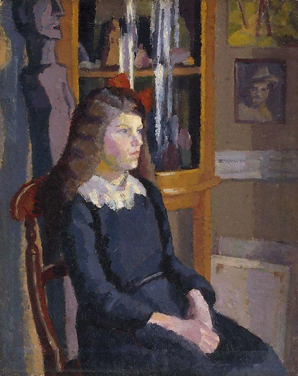 Studio portrait, Chelsea, (1915) by Norah Simpson