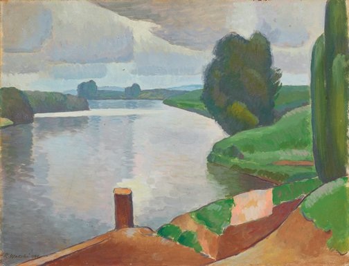 An image of The river at Windsor by Roland Wakelin
