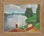 Alternate image of The river at Windsor by Roland Wakelin