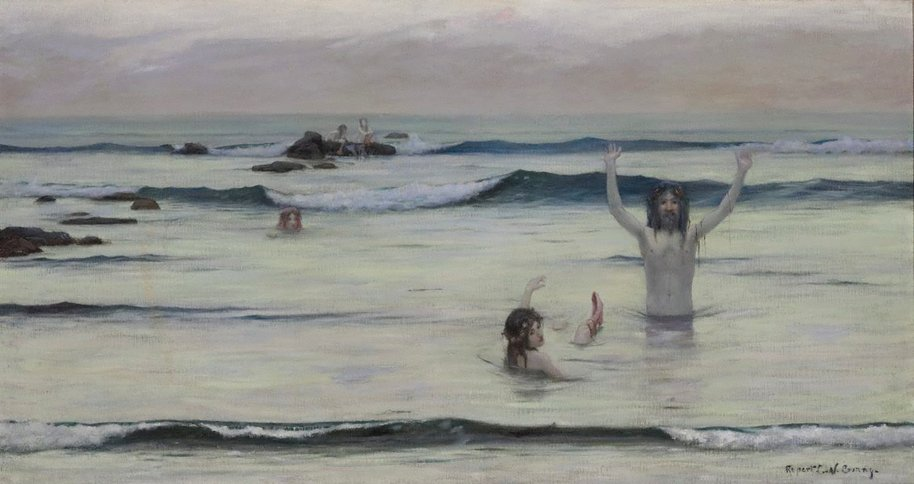 AGNSW collection Rupert Bunny Tritons (circa 1890) OA27.1969