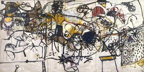 An image of Spanish encounter by John Olsen