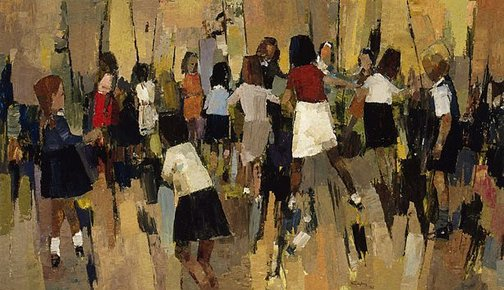 An image of Children dancing by John Thomas Rigby