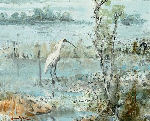 An image of Swamp bird by Clifton Pugh