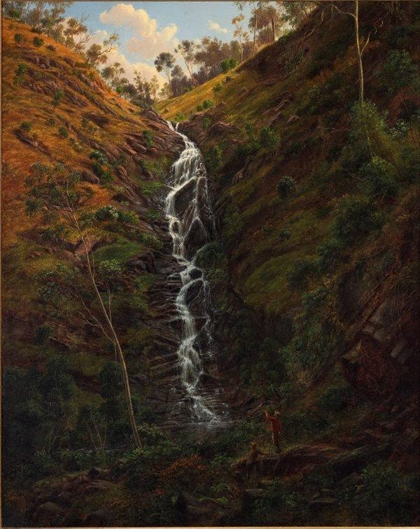 Waterfall, Strath Creek, (1862) by Eugene von Guérard