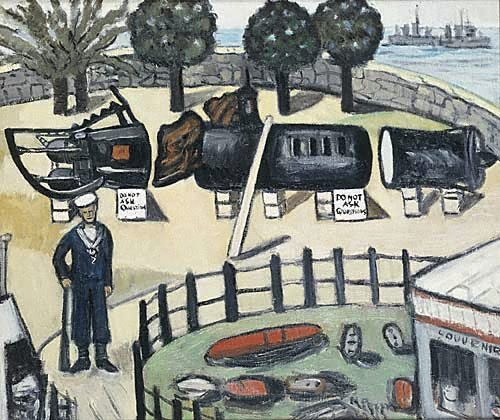 An image of Japanese submarine exhibition by Margaret Preston