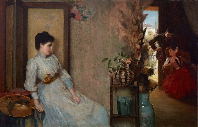AGNSW collection Tom Roberts Jealousy (1889) OA37.1960