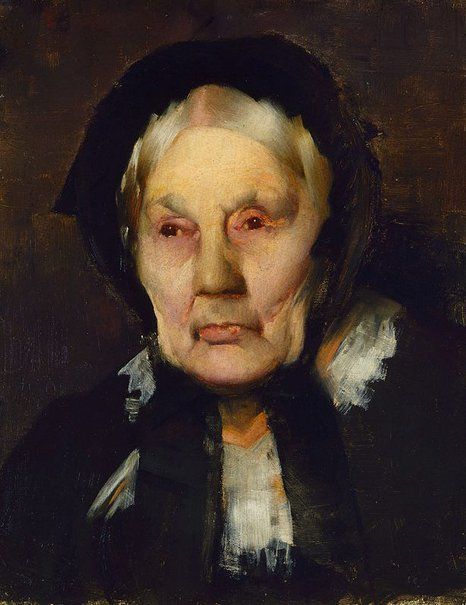 An image of Portrait of an old woman by James Quinn