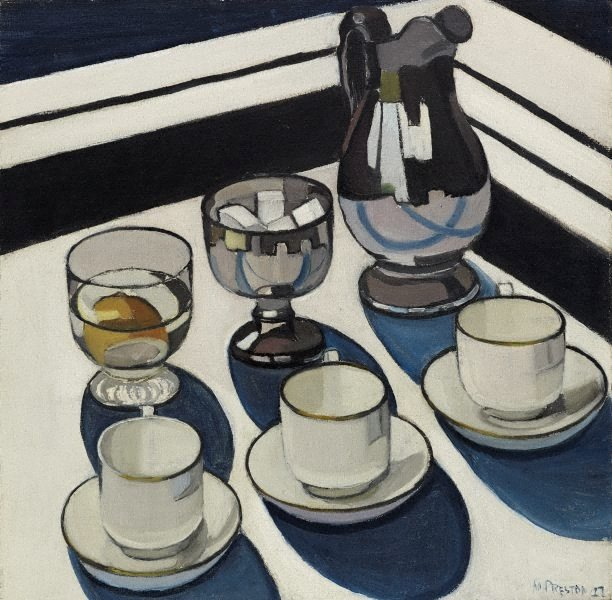 Implement blue, (1927) by Margaret Preston