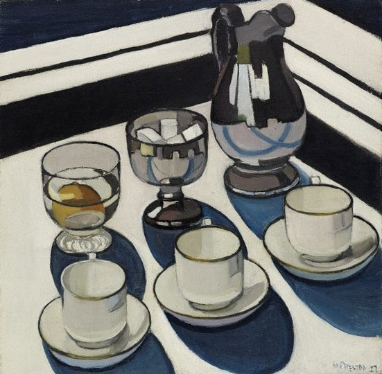AGNSW collection Margaret Preston Implement blue (1927) OA7.1960
